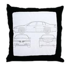Pontiac Bonneville Throw Pillow