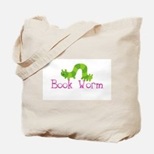 Girls Book Worm School/Library Tote Bag