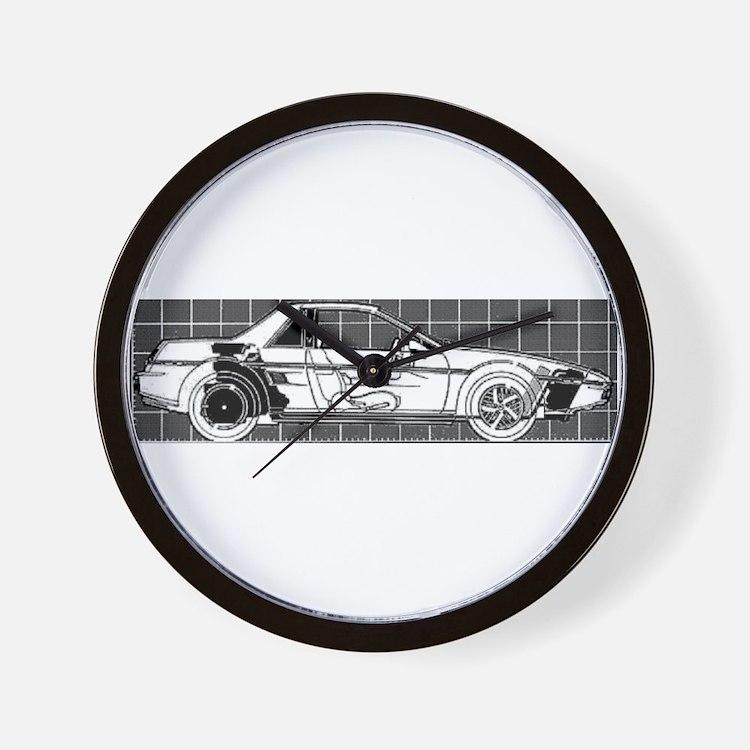 Pontiac Fiero Wall Clock