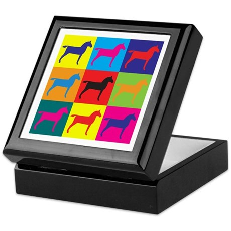 Horses Pop Art Keepsake Box