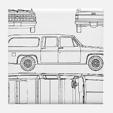 Chevy Suburban Tile Coaster