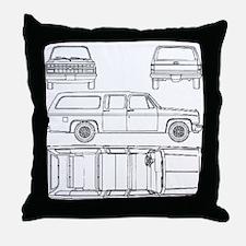 Chevy Suburban Throw Pillow