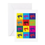 High Jumping Pop Art Greeting Cards (Pk of 20)