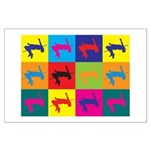 High Jumping Pop Art Large Poster
