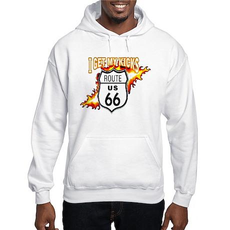 I Get My Kicks on Rt. 66 Hooded Sweatshirt