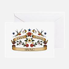 Live Love HVAC Greeting Card