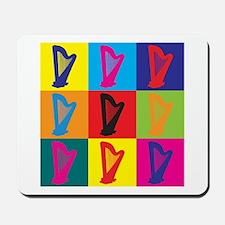 Harp Pop Art Mousepad