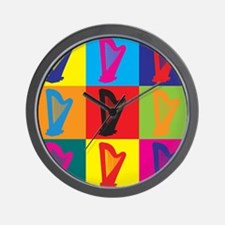Harp Pop Art Wall Clock