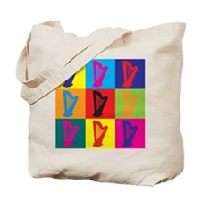 Harp Pop Art Tote Bag