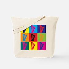 Harp Pop Art Tote Bag