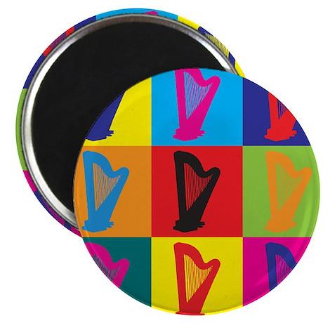 """Harp Pop Art 2.25"""" Magnet (10 pack)"""