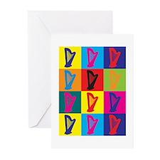 Harp Pop Art Greeting Cards (Pk of 10)