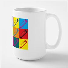 Harmonica Pop Art Large Mug