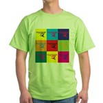 Hang Gliding Pop Art Green T-Shirt