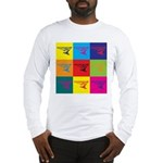 Hang Gliding Pop Art Long Sleeve T-Shirt