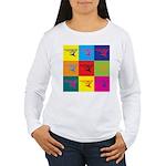 Hang Gliding Pop Art Women's Long Sleeve T-Shirt