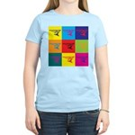 Hang Gliding Pop Art Women's Light T-Shirt