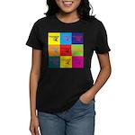 Hang Gliding Pop Art Women's Dark T-Shirt
