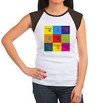Hang Gliding Pop Art Women's Cap Sleeve T-Shirt