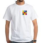 Hang Gliding Pop Art White T-Shirt