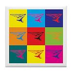 Hang Gliding Pop Art Tile Coaster