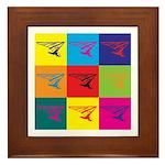 Hang Gliding Pop Art Framed Tile