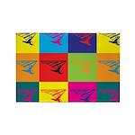Hang Gliding Pop Art Rectangle Magnet (10 pack)