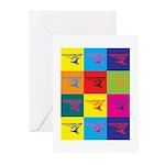 Hang Gliding Pop Art Greeting Cards (Pk of 10)