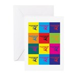 Hang Gliding Pop Art Greeting Cards (Pk of 20)