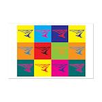 Hang Gliding Pop Art Mini Poster Print