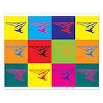 Hang Gliding Pop Art Small Poster