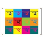 Hang Gliding Pop Art Banner