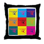 Hang Gliding Pop Art Throw Pillow