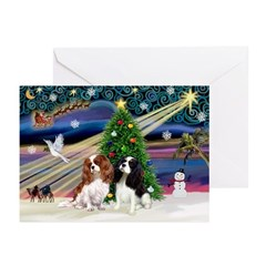 XmsMagic-Two Cavaliers Greeting Cards (Pk of 10)