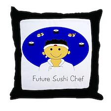 Future Sushi Chef Throw Pillow