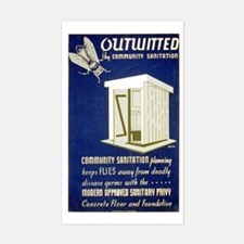 Flies Outwitted Rectangle Decal