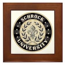 Schrock Personalized Name University Framed Tile