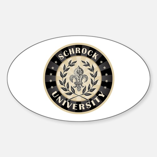 Schrock Personalized Name University Decal