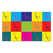 Gliding Pop Art Rectangle Decal