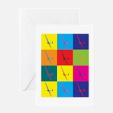Gliding Pop Art Greeting Card