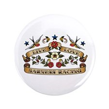 """Live Love Harness Racing 3.5"""" Button (100 pack)"""