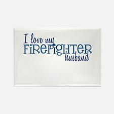 I love my Firefighter husband Rectangle Magnet