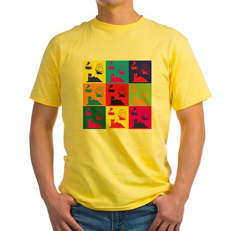 German Board Games Pop Art Yellow T-Shirt