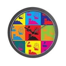German Board Games Pop Art Wall Clock