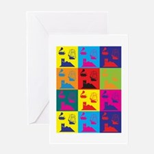 German Board Games Pop Art Greeting Card