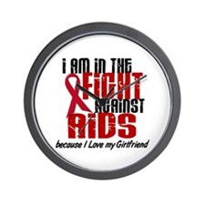 In The Fight Against AIDS 1 (Girlfriend) Wall Cloc