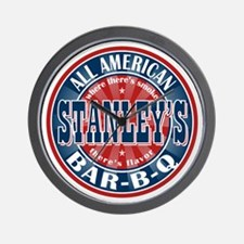 Stanley's All American BBQ Wall Clock