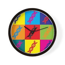 Genetics Pop Art Wall Clock