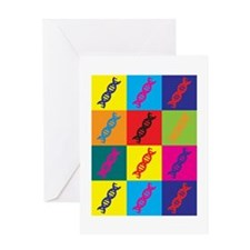 Genetics Pop Art Greeting Card
