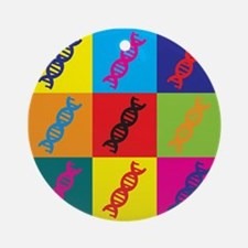 Genetics Pop Art Ornament (Round)